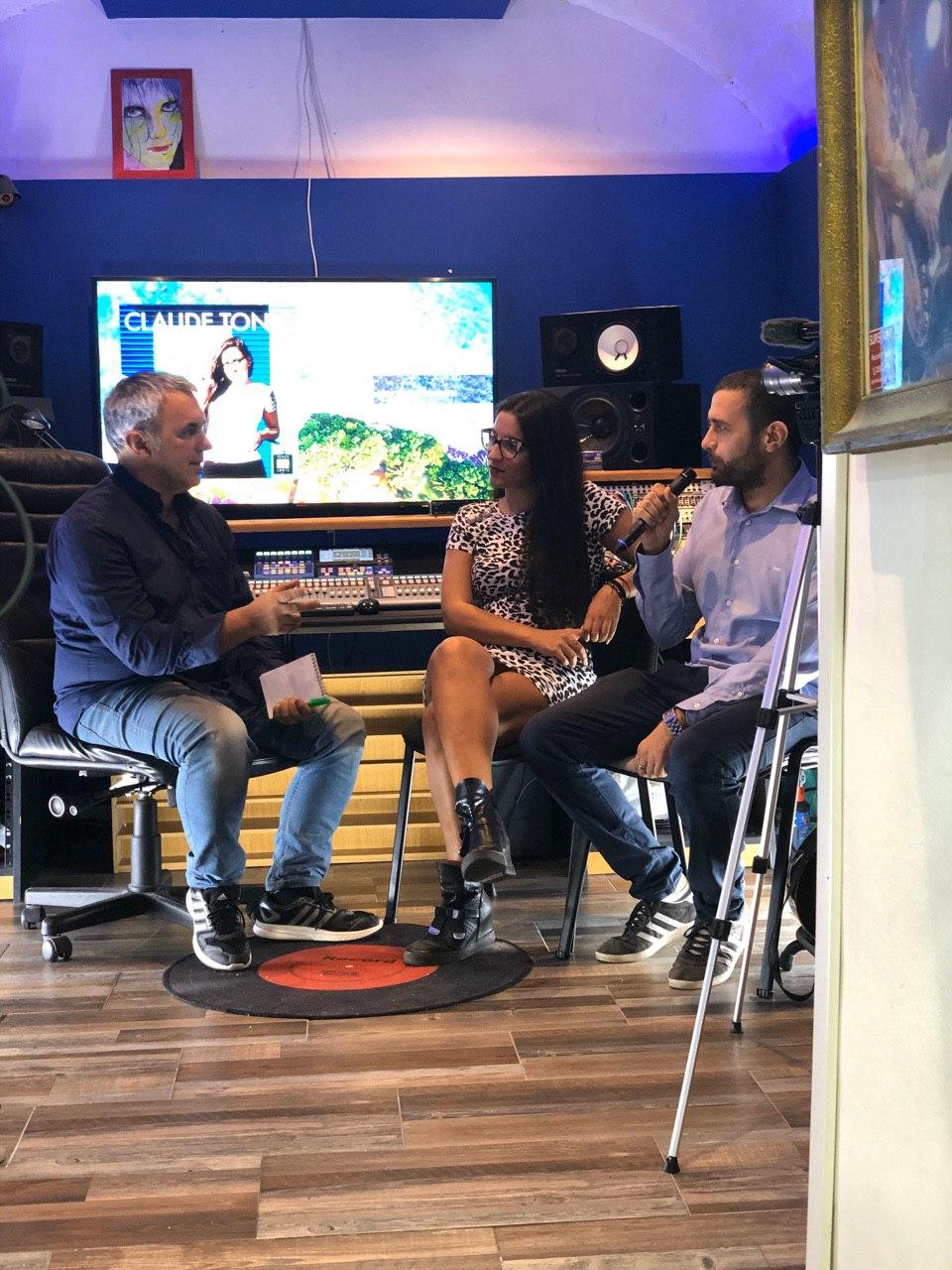 Claude Tonic e Stefano Barricella intervistati agli Studios Academy, il centro Steinberg di Roma